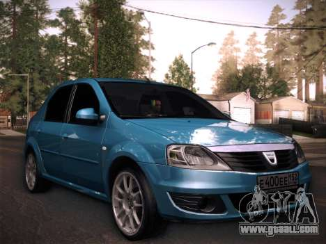 Dacia Logan GrayEdit for GTA San Andreas back left view