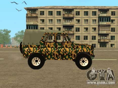UAZ 469 Camo for GTA San Andreas left view