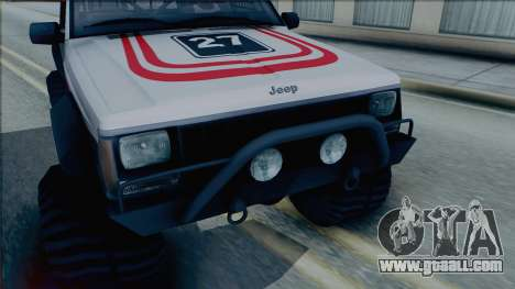 Jeep Cherokee 1984 Sandking for GTA San Andreas back left view