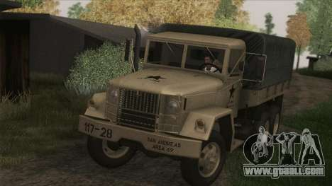 AM General M35A2 1950 for GTA San Andreas back left view
