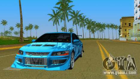 Mitsubishi Lancer Evolution VIII Type 8 for GTA Vice City upper view
