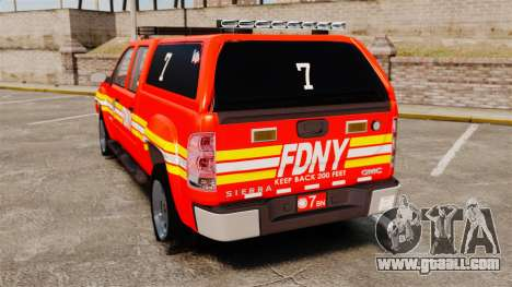 GMC Sierra 2500HD 2010 FDNY [ELS] for GTA 4 back left view