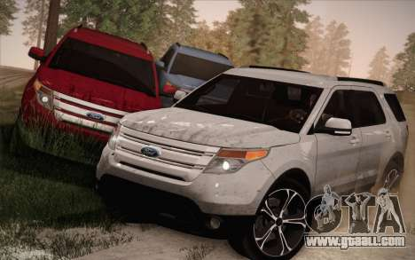 Ford Explorer 2013 for GTA San Andreas bottom view