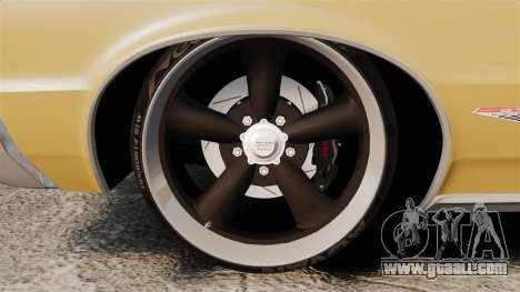 Pontiac GTO 1965 for GTA 4 back view