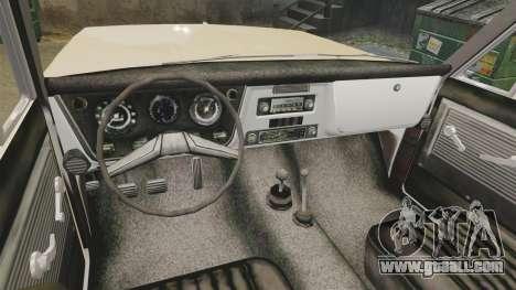 Chevrolet Blazer K5 1972 for GTA 4 back view