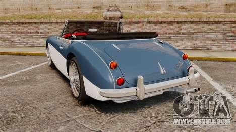 Austin-Healey 3000 Mk III 1965 for GTA 4 back left view