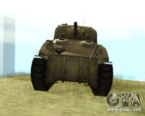 M4 Sherman for GTA San Andreas left view