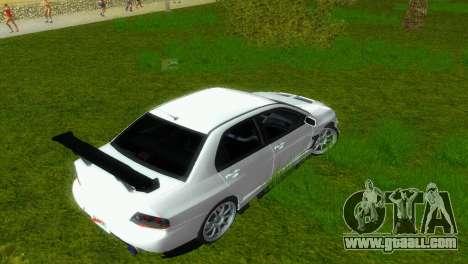 Mitsubishi Lancer Evolution VIII Type 8 for GTA Vice City side view