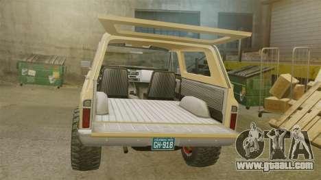 Chevrolet Blazer K5 1972 for GTA 4 inner view