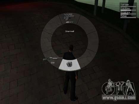 GTA V Weapon Scrolling for GTA San Andreas forth screenshot
