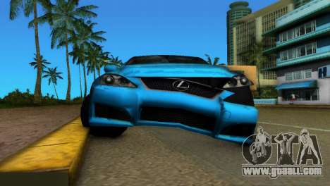 Lexus IS-F for GTA Vice City inner view