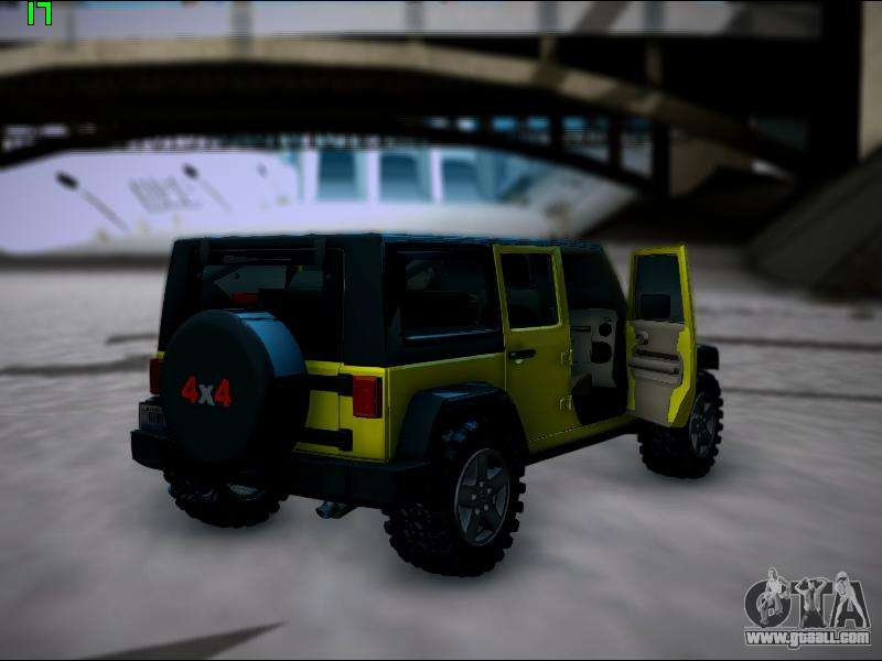 jeep wrangler unlimited 2007 for gta san andreas. Black Bedroom Furniture Sets. Home Design Ideas