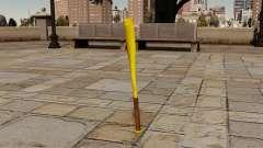 Golden baseball bat