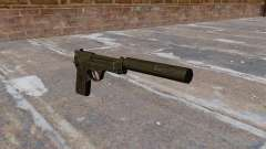 M9 self-loading pistol with silencer