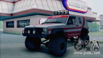 Jeep Cherokee 1984 Sandking for GTA San Andreas