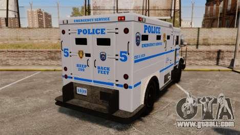 Enforcer LCPD [ELS] for GTA 4 back left view
