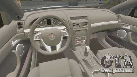Pontiac G8 Sport Truck 2010 for GTA 4 inner view