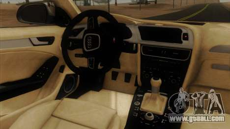 Audi S4 for GTA San Andreas inner view