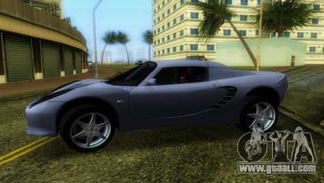 Lotus Elise for GTA Vice City back left view