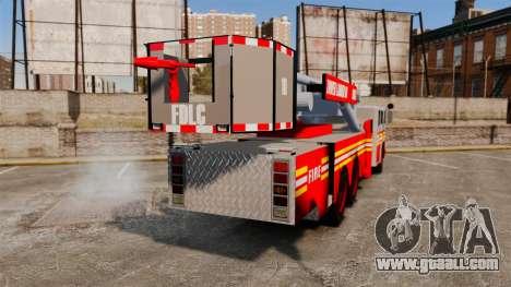 MTL Firetruck Tower Ladder [ELS-EPM] for GTA 4 back left view