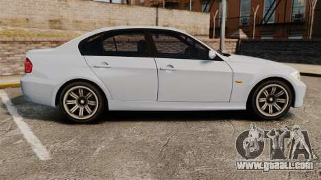 BMW 330i Unmarked Police [ELS] for GTA 4 left view