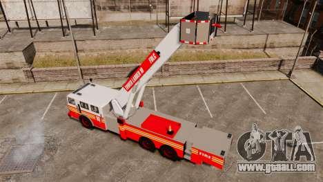 MTL Firetruck Tower Ladder [ELS-EPM] for GTA 4 back view