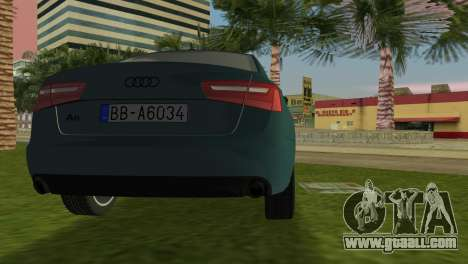 Audi A6 2012 for GTA Vice City back left view