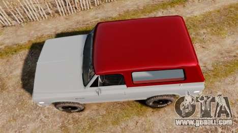 Chevrolet K5 Blazer for GTA 4 right view