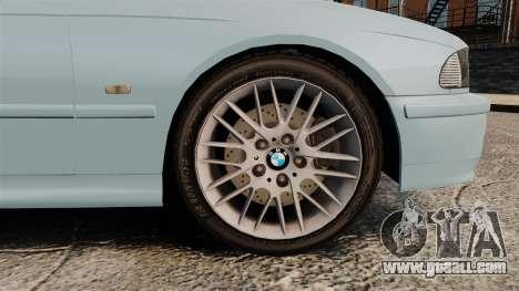 BMW 525i (E39) for GTA 4 back view