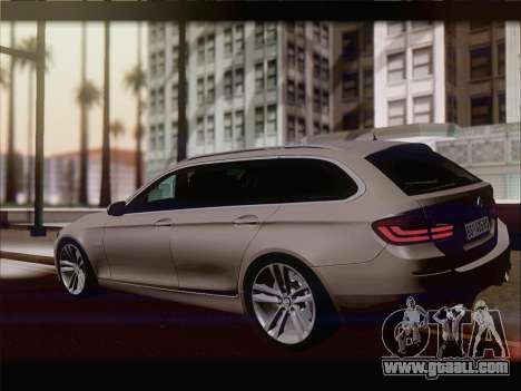 BMW M5 F11 Touring for GTA San Andreas back view