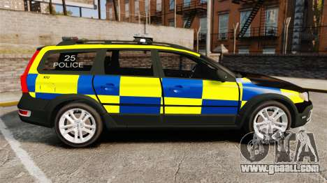 Volvo XC70 Police [ELS] for GTA 4 left view