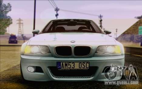 BMW M3 E46 2005 for GTA San Andreas bottom view
