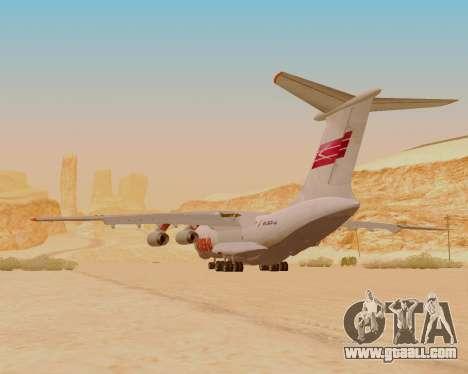 Il-76td IlAvia for GTA San Andreas back view