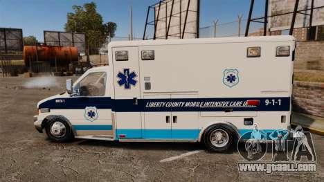 Ford E-350 Liberty Ambulance [ELS] for GTA 4 left view