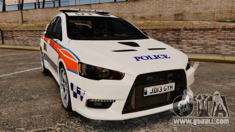 Mitsubishi Lancer Evo X Humberside Police [ELS] for GTA 4