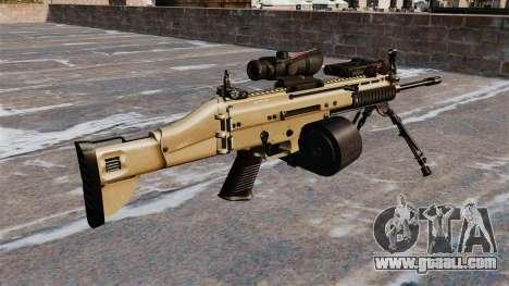 Assault machine FN SCAR-L C-Mag for GTA 4 second screenshot