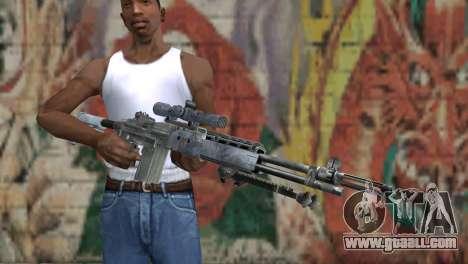 M14 EBR Blue Tiger for GTA San Andreas third screenshot