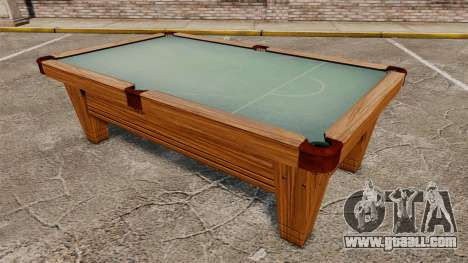 New pool table for GTA 4