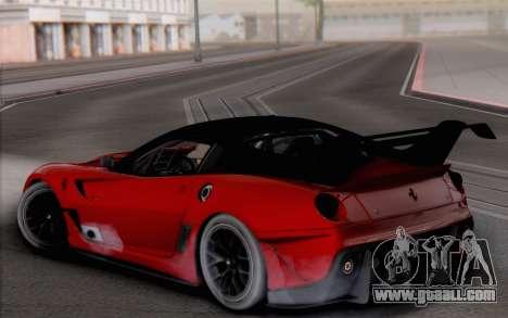 Ferrari 599XX Evolution for GTA San Andreas left view