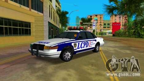GTA IV Police Cruiser for GTA Vice City back left view