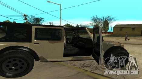 Crusader GTA 5 for GTA San Andreas back left view