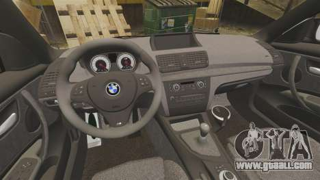 BMW 1M 2014 for GTA 4 inner view