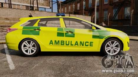Hyundai i40 Tourer [ELS] London Ambulance for GTA 4 left view