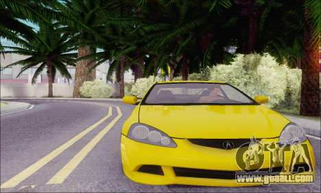Acura RSX for GTA San Andreas back left view