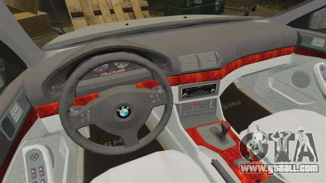 BMW 525i (E39) for GTA 4 inner view