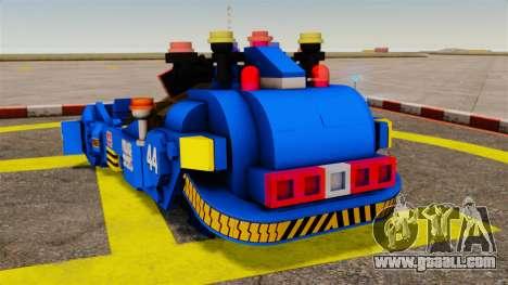 Lego Car Blade Runner Spinner [ELS] for GTA 4 back left view