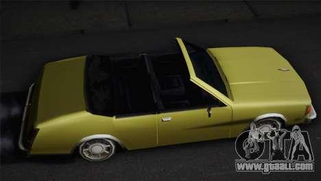 2-door cabriolet, Washington for GTA San Andreas back left view