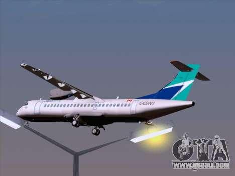 ATR 72-500 WestJet Airlines for GTA San Andreas interior