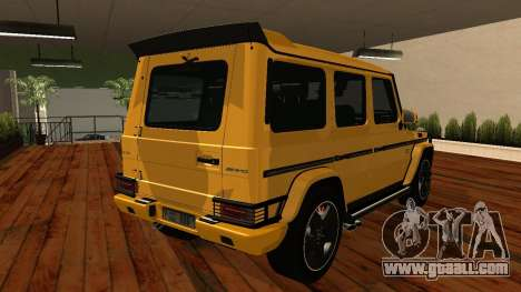 Mercedes-Benz G65 AMG for GTA San Andreas back view