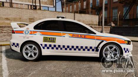 Mitsubishi Lancer Evo X Humberside Police [ELS] for GTA 4 left view